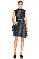 3.1 Phillip Lim Jacquard Tank Dress In Blue Geometric Print Blue Geometric Print