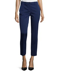 Michael Kors Collection Skinny Leg Stretch Cropped Dress Pants Natural Women's Size 10