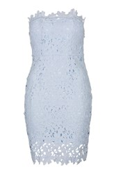 Whisper A Dream Scalloped Lace Strapless Dress By Wyldr Blue