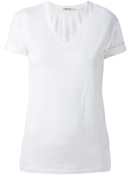 T By Alexander Wang V Neck T Shirt White