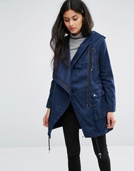 Only Navy Parka Black Iris Blue