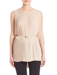 Max Mara Pece Pleated Sleevless Tunic Powder