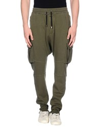 Balmain Casual Pants Military Green