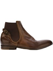 Officine Creative Buckle Detail Ankle Boots Brown