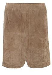 More And More Leather Skirt Nut Brown