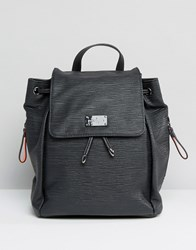 Paul's Boutique Pauls Backpack In Black With Tassel Detail Black
