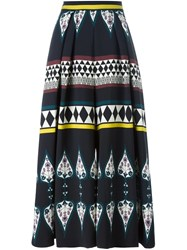 Antonio Marras Geometric Print Palazzo Pants Black