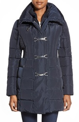 Jessica Simpson Down And Feather Fill Toggle Front Coat Navy