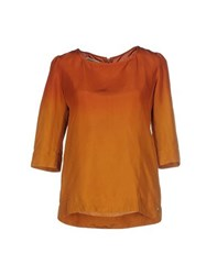 Met And Friends Shirts Blouses Women Rust