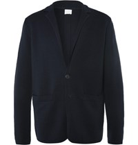 Sunspel Blue Milano Merino Wool Blazer Navy
