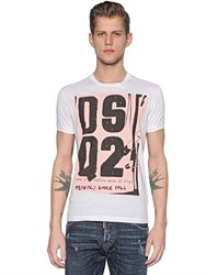 Dsquared Dsq2 Printed Cotton Jersey T Shirt
