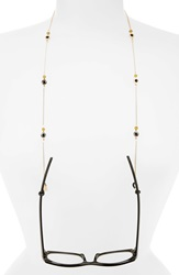 Corinne Mccormack Beaded Eyewear Chain Brown And Hematite