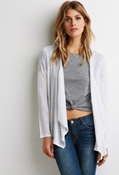 Forever 21 Embroidered Mesh Cardigan Ivory