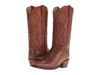 Lucchese L4177 Cognac Giant Alligator Cowboy Boots Brown