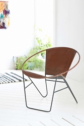 Jax Leather Wire Chair Urban Outfitters