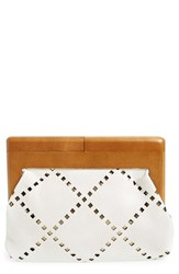 Sondra Roberts Perforated Faux Leather Frame Clutch