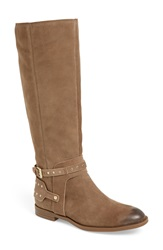 Nine West 'Luciana' Studded Tall Boot Women Taupe Suede