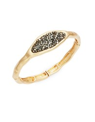 Design Lab Lord And Taylor Geometric Crystal Cluster Stretch Bracelet Gold
