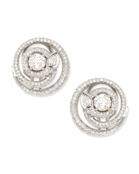 Diamond Serpent Stud Earrings G Vs2 2.21 Tcw Maria Canale For Forevermark