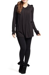 Women's Savi Mom Hooded Pleated Maternity Nursing Tunic