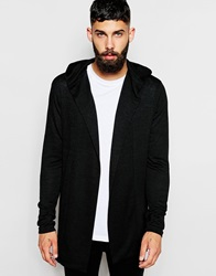 River Island Hooded Lightweight Cardigan Black