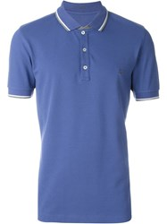 Fay Piped Collar Polo Shirt Blue