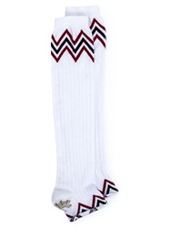 Sister Original Zig Zag Socks White