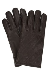 Ben Sherman Men's Original Penguin Quilted Leather Gloves Coffee