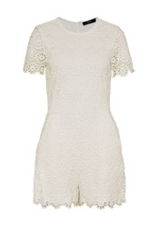 Hallhuber Lace Playsuit White