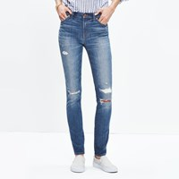 Madewell 9' High Rise Skinny Jeans Rip And Repair Edition