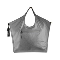 Jlew Bags Graphite Heavyweight Triangle Top Tote Silver