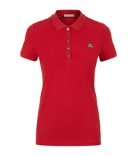 Burberry Cotton Pique Polo Shirt Female Red