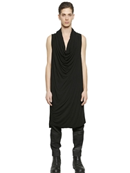Ma Julius Sleeveless Techno Jersey Long Tank Top Black