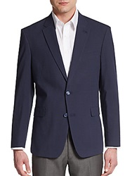Tommy Hilfiger Regular Fit Tonal Check Cotton Sportcoat