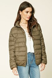 Forever 21 Zip Up Puffy Jacket