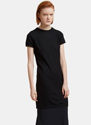 Rick Owens Maglia Long Cashmere Short Sleeved T Shirt Black