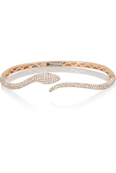 Anita Ko 18 Karat Rose Gold Diamond And Tsavorite Bracelet