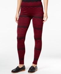 G.H. Bass And Co. Striped Skinny Leggings Mulled Wine Combo
