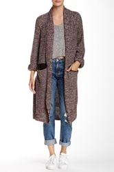14Th And Union Long Shawl Marl Cardigan Brown