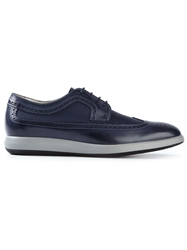 Panelled Brogues Blue