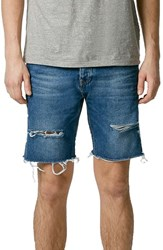 Men's Topman Ripped Skinny Fit Cutoff Denim Shorts