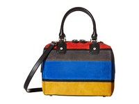 Alice Olivia Suede Horizontal Stripe Multi Handbags