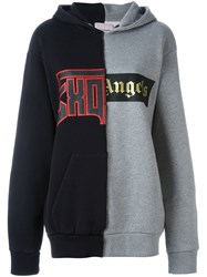 Palm Angels Patchwork Hoodie Grey