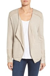 Caslonr Petite Women's Caslon Mixed Knit Cardigan Morel Ivory Pattern