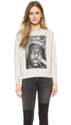 Elevenparis Biggie Moustache Sweatshirt Melange Grey