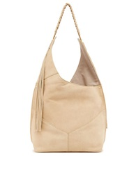 Ella Moss Skylar Leather Hobo Bag Cream