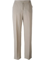 Giorgio Armani High Waisted Tailored Trousers Nude And Neutrals