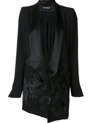 Ann Demeulemeester One Button Blazer Black
