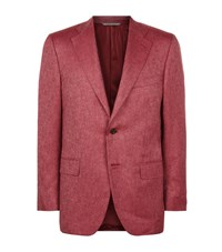 Canali Silk Cashmere Jacket Male Red