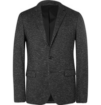 Solid Homme Grey Slim Fit Wool Blend Blazer Gray